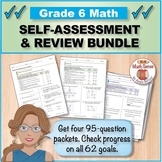 Grade 6 Math Self-Assessment and Review BUNDLE, Forms A-D