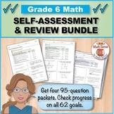 Grade 6 Math Self-Assessment BUNDLE, Forms A-D { Print & D