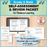 Grade 6 Math Self-Assessment and Review Packet for Distanc