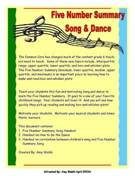 Grade 6 Math - Statistics Song & Dance - Five Number Summary - Fun! Fun! Fun!
