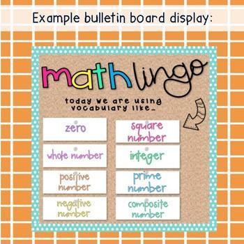 Grade 6 Math Vocabulary cards / Maths language / Australian curriculum aligned