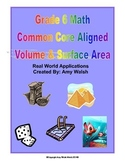 Grade 6 Math Volume & Surface Area Task Cards & Sort