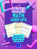 Grade 6 Math Warm-Up Problems