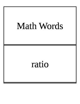 Grade 6 Math Word Wall