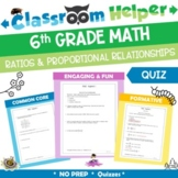 Grade 6 Mathematics Quiz - Ratios and Proportional Relationships