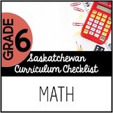 Grade 6 Mathematics - Saskatchewan Curriculum Checklists