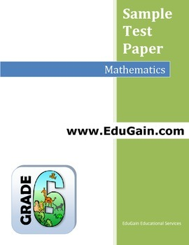 Grade 6 Maths Sample Test Paper