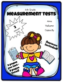Grade 6 Measurement Tests - Capacity, Volume and Area - 2 versions!