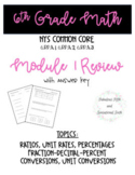 Grade 6 Module 1 Review Packet (6 pages of original questions)