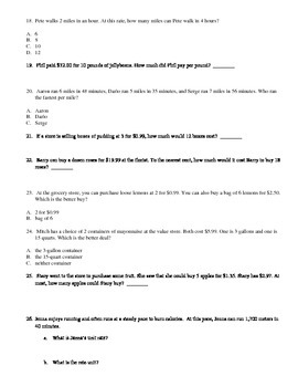 Grade 6 Module 1 Topic C Test