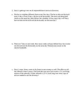 Grade 6 Module 2 - End of Module Study Guide