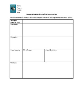 Grade 6 Module 2 (Wit and Wisdom) Setting and Character Analysis Handouts