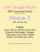 6th Grade Module Math Review (45 Pages of Questions, 90 Pages Total!)