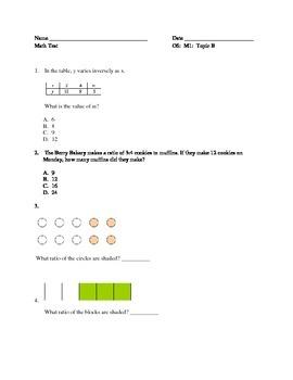 Grade 6 Module Topic B Test