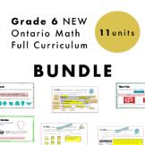 Grade 6 NEW Ontario Math Curriculum Full Year Digital Slid