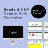 Grade 6 NEW Ontario Math - Decimal Operations Digital Slides