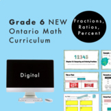 Grade 6 NEW Ontario Math Curriculum - Fractions, Ratios, Percent