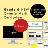 Grade 6 NEW Ontario Math - Operations Digital Slides