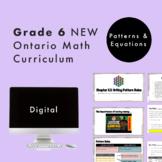 Grade 6 NEW Ontario Math Curriculum - Patterns and Equatio