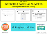Grade 6, Negative Numbers, Scavenger Hunt Review Activity