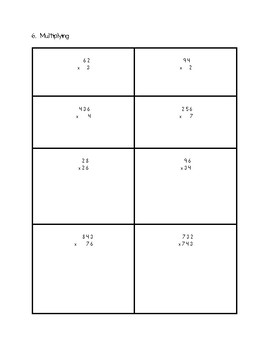 Grade 6 Number Sense and Numeration Test