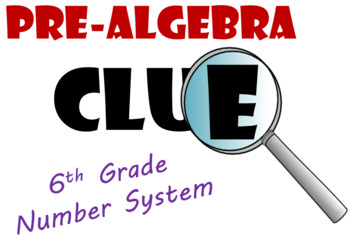 Grade 6 Number System Clue Review Game