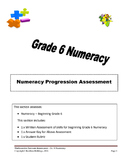 Grade 6 - Numeracy Progression Assessment