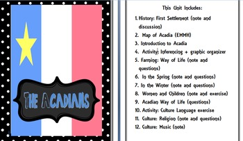 Strand A: Canadian Communities: Acadians