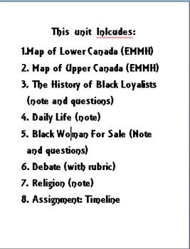 Grade 6 Ontario Curriculum: Canadian Communities: African Canadians