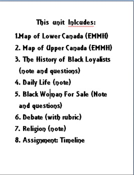 Map Of Canada Grade 6.Grade 6 Ontario Curriculum Canadian Communities African Canadians