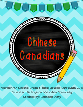 Strand A: Canadian Communities: Chinese Canadians