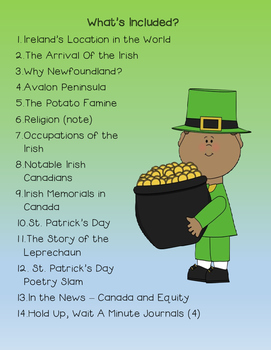 Strand A: Canadian Communities: Irish Canadians
