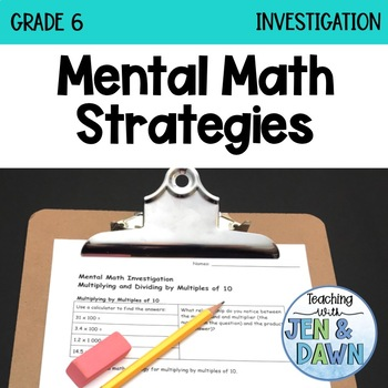 Grade 6 Ontario Math Multiplication and Division Mental Math Investigation