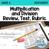 Grade 6 Ontario Math Multiplication and Division Review, T