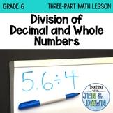 Grade 6 Ontario Math Three Part Lesson Dividing Decimals