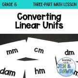 Measurement - Converting Linear Units (Grade 6 Math Three Part Lesson)