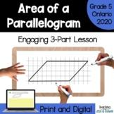 Grade 6 Ontario Math Three Part Lesson Measurement Area of Parallelogram