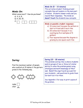 Grade 6 Ontario Math Three Part Lesson Patterning 1