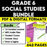 Grade 6 Ontario Social Studies Bundle Strand A and B