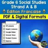 Grade 6 Ontario Social Studies Bundle Strand A and B FRENCH