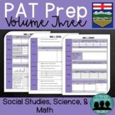 Grade 6 PAT Prep-Volume 3