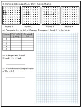 Grade 6 Patterning Assessment