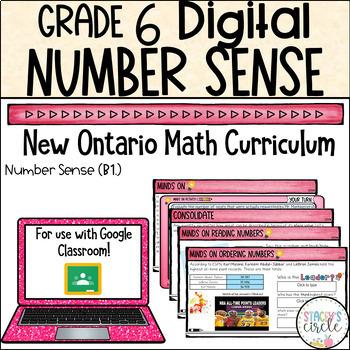 Grade 6 Place Value 2020 Ontario Math - Digital Google Slides : B1 Number Sense