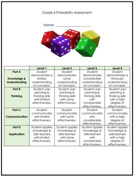 Grade 6 Probability Assessment