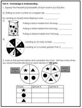 Grade 6 Probability Assessment