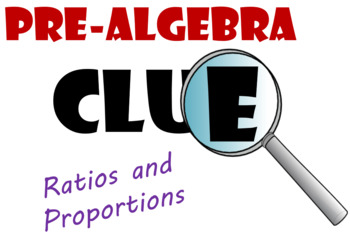 Grade 6 Proportions Clue Review Game