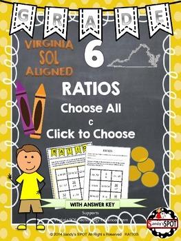 Grade 6 RATIOS Virginia SOL TEST PREP