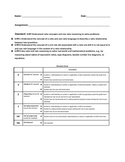 Grade 6 Ratio Standards Tracker