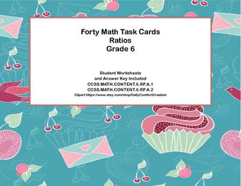 Grade 6-Ratios-CCSS- 40 Math Task Cards