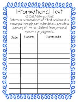Grade 6 Reading Informational Text Reading Standards